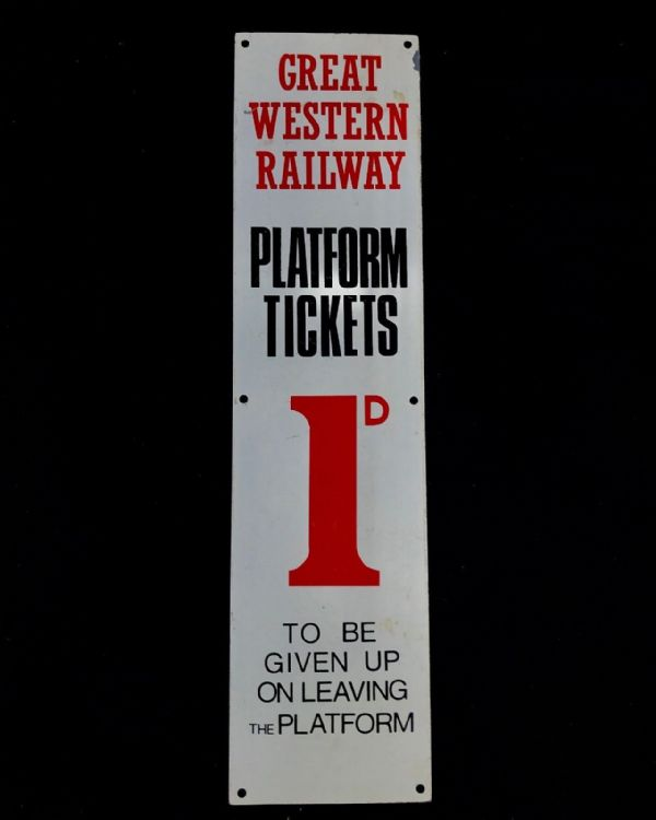 Railwayana Set Of 3 Signs / Plaques / Metal / Ticket / Great Western Railway